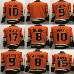 35290f1a9 2018 New Supplier Anaheim Ducks 15 Ryan Getzlaf 10 Corey Perry 17 Ryan  Kesler Blank Teemu Selanne 9 Paul Kariya Orange Hockey Jerseys