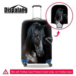 Wholesale protective suitcase covers - Thicken Elastic Luggage Protective Cover Apply To 18-30 Inch Cases Cool Black Horse Suitcase Covers For Teenage Boys Mens Travel Accessories