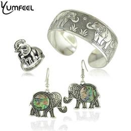 Tibetischen silbernen armband elefanten online-Mode New Vintage Elephant Tibetischen Tibet Versilbert Armbänder Charming Elegante Runde Metall Manschette Armreifen Frauen Schmuck