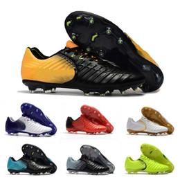 2019 chaussures à crampons de football chaussures de football en plein air pour hommes Tiempo Legend 7 VII FG chaussures de football basses spike doux football imperméable Bottes Trainer tissage Sneakers promotion chaussures à crampons de football