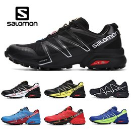pro lace Coupons - Salomon Speed Cross PRO 5 Men Outdoor Running Shoes SpeedCross Black White Red Blue Green Yellow Mens Trainer Sport Sneaker Size 7-12