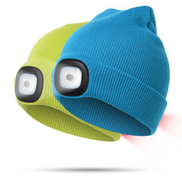 094fd974dec Chinese 7Colors LED Light Battery Knitted Hat Type Winter Beanies Fishing Camping  Cap Hat adult Camping