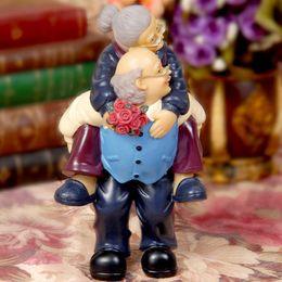 Wholesale Wedding Figurines Gifts - Q -Glory Resin Figurines Wedding Home Decoration Accessories Home Decor Garden Figures Miniature Love Gifts Souvenir Grandma