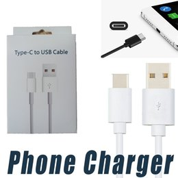 Wholesale Usb Notes - Fast Charging 1M 3FT 2M 6ft Type C Cable Data Sync Cord for Samsung Note 8 S8 plus HTC LG