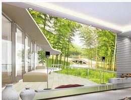 Wholesale Bamboo Wall Murals - custom photo wallpaper 3d Bamboo landscape 3D wall background photo wall murals wallpaper