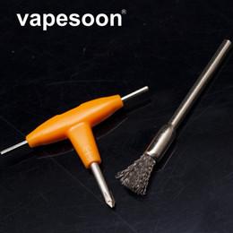 Cacciavite a T con combinazione di utensili e-sigaretta e fai-da-te + Spazzola di pulizia per fai da te RDA RDTA Serbatoio atomizzatore riscaldamento filo bobina da spazzole di pulizia dei tipi fornitori