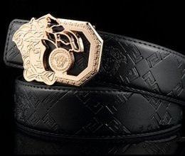 Wholesale Mens Leather Belts Sale - Hot selling sale Medusa buckle Deisgn Brand Belts for Men Women Designer Mens Belts Luxury Cow Genuine Belt for gift