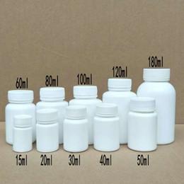 100pcs 15/20/30/40/50/60/80 / 100ml botella de tapón de rosca blanca botella de embalaje de medicina sólida desde fabricantes