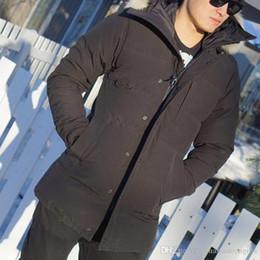 Wholesale Best Casual Coats Men - Buy Canada Winter Down Jacket Carson Parkas Zippers Brand Designer Long Men Warm Coat Design Outdoor Coats XXXL Best Plus Size
