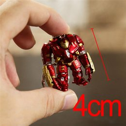 Wholesale Iron Man Anime - Avengers Hulk Buster Iron Man Keychain Mini Toy Anime Figures Easter Gifts Toys Birthdays Gifts Doll New Arrvial January Hot Sale