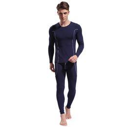 Wholesale Male Sleepwear Underwear - Men underpants Brand New Men Thermal Male Underwear Fashion Bamboo Fiber Pajamas Snug Sleepwear Tops UnderShirts Long Johns