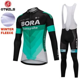 Discount clothing pads - BORA 2018 Cycling Jersey Set Men Winter Thermal Fleece Cycling Clothing Pro Team Coolmax Gel Pads Mountain Bike Jersey And Pants Ciclismo