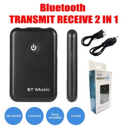 Wholesale audio used - Bluetooth 4.2 2 in 1 Bluetooth audio transceiver receiver+transmitter2 in 1 3.5mm connector Use for phone TV Bluetooth headphone PC