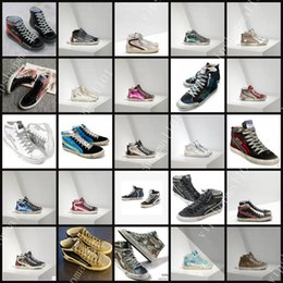 Wholesale Shoes Sneakers Shape Ups - Italy Handmade Shoes Golden Goose Men Women Sneaker Star Shape Vintage Style GGDB SLIDE Men Casual Shoes High Top Men Dirty Shoes size 35-46