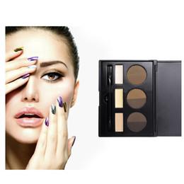 potenziatori di colore degli occhi Sconti Kit per sopracciglia a colori con logo 9 con pennello Pennello cosmetico per sopracciglia con sopracciglio in polvere