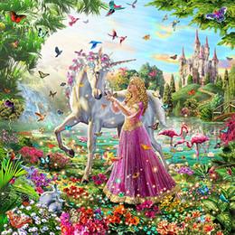pinturas religiosas Rebajas 2018 venta caliente del envío libre princesa pintura diamante 5d diy punto de Cruz bordado de diamantes Plaza Completa Diamante Mosaico arte decoración de la pared