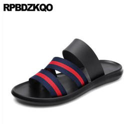 Slippers Red Striped Sneakers Roman Slides Native Canvas Soft Leather Sport Shoes  Men Gladiator Sandals Summer Outdoor Fashion 431defb7a9c1