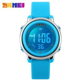 Meninos relógios leves on-line-SKMEI Nova Moda Esportes Crianças Relógios Menino e Menina À Prova D 'Água Relógio De Alarme Crianças Luz de Fundo Calendário Digital relógios de Pulso 1100