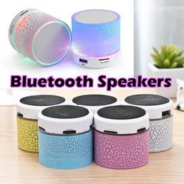 a9 mini haut-parleur bluetooth Promotion Haut-parleurs Bluetooth LED A9 S10 Sans fil mains mains Mini portable haut-parleur libre TF USB Support FM carte SD avec micro