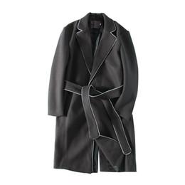 2019 cappotto di lana di mens Cappotto in misto lana uomo d affari coreano  moda 1f7a5a9987e