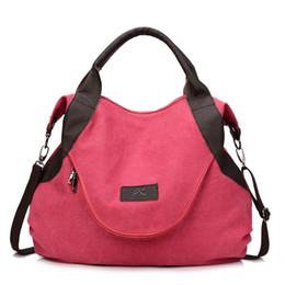 Wholesale wholesale canvas messenger bag large - Wholesale Fashion Women Canvas Bag Female Casual Crossbody Handbags Ladies Canvas Handbag Shoulder Large Capability Messenger Composite Bag