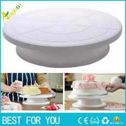 Wholesale Cake Turntable Plastic - Conveniently use the cake to make the turntable non-slip plastic rotating decorative platform bracket to show the cake rotating table
