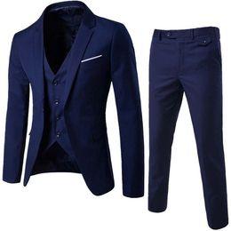 Argentina Trajes para hombre Marca 2018 Trajes para hombre Novio de boda Talla grande 6XL Blazer 3 piezas (chaqueta + chaleco + pantalón) Slim Fit Casual Esmoquin Traje masculino cheap plus size tuxedos Suministro
