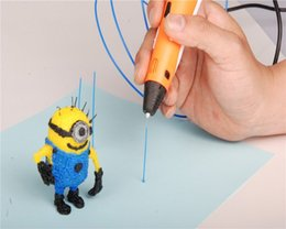 Wholesale 3d Pen Print - Christmas Birthday gift Creative 3D Pen DIY 3D Printer Pen Drawing Pen Printing Best for Kids Gift with ABS Filament 1.75mm puzzl toy DHL