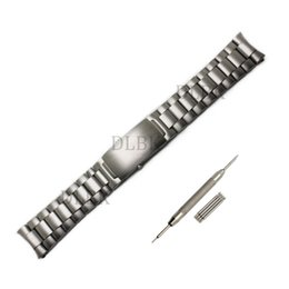 Wholesale Watch Push Button Clasp - Watch Accessories 20mm 22mm Watchband Brushed Topcoat Pure Solid Stainless Steel Butterfly Buckle Strap Bracelet For Omega Watch+tool