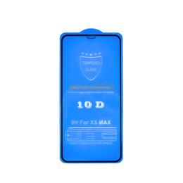tela de carbono do iphone Desconto 300 pcs 10d protetor de tela de cobertura completa 9 h protetor de tela de fibra de carbono de vidro temperado para iphone x 6 6 s 7 8 plus xs max