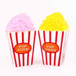 Wholesale pink corn - New Arrival Cute Squishy Pop Corn Kawaii Food Cream Scented Slow Rising Squishy Kid Toys Collection Gift Decor Toy