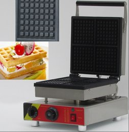 Wholesale Waffle Dog Maker - Factory Made Commercial Lolly Waffle Maker Machine Sausage Hot Dog Machine Crispy Machine 4 Square Waffle Maker LLFA