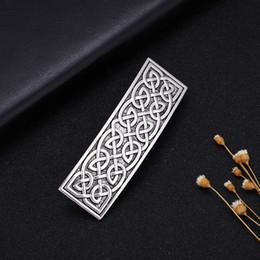 lemegeton pince à cheveux noeud irlandais viking argent antique / plaqué or accessoires de cheveux à la main élégante en épingle à cheveux / pince à cheveux bijoux ? partir de fabricateur