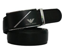 Wholesale automatic belt buckles - New Automatic buckle men belts fashion business belt Famous brand luxury belts for men leather