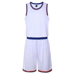 548caa4642a China 2018 New Sleeveless Men Basketball Jerseys Shorts Sets High Quality  Outdoor Male Sports Shirts Pants