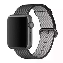 Wholesale Weaving China - Woven Nylon Wrist Band Strap Bracelet For Apple Watch iWatch Series 1 2 3 38 42MM China Sell