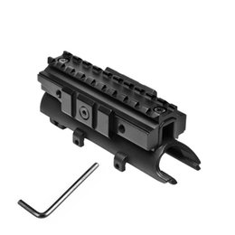 Wholesale Scope Mounts For Picatinny Rail - Matte Black Steel SKS Top Receiver Cover with Tri-Rail Weaver Picatinny for 20mm Scope Mount Accessory System