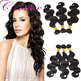 Wholesale Cheap Wavy Remy Hair - 3PCS Cheap Remy Brazilian Hair Body Wave Wet And Wavy Human Hair Weave Raw Unprocessed Brazilian Virgin Hair