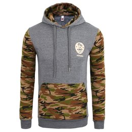 Wholesale Blue Contracts - Men Spring Baseball Hoodies Camouflage Camo Sweatshirts Hooded Long Sleeved Colors Contract Pullovers Tops Clothing