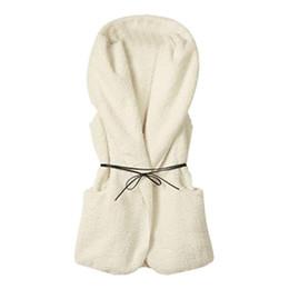 Wholesale Wholesale Faux Fur Vests - Women Winter Faux Fur Vest Hooded Faux Fur Long Vest 5 Color Casual Solid Female Sleeveless Coat Tops 2017