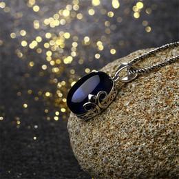 Полудрагоценные камни ювелирные изделия из стерлингового серебра онлайн-925 стерлингового серебра ювелирные изделия чешский королевский природные полудрагоценные камни подруга подарок милый гранат красный синий корунд кулон