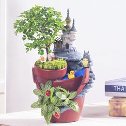 2019 bonsai de mesa Europa criativo micro paisagem jardim pote nova novidade bonsai planta vaso de flores plantas suculentas pote mesa decorações vasos de plantador desconto bonsai de mesa