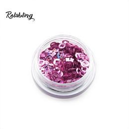 Nueva moda Fashional Nail Glitter en polvo de orquídea pálida rosa flor de ciruelo en forma de brillo en polvo de uñas decoración de arte herramientas de polvo desde fabricantes