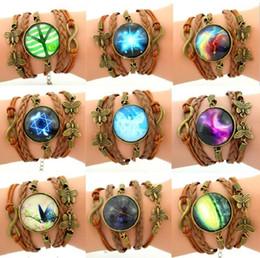 Wholesale Handmade Gemstone Bracelets - G0176 trade hot jewelry retro hand woven Gemstone Bracelet Handmade multi star time