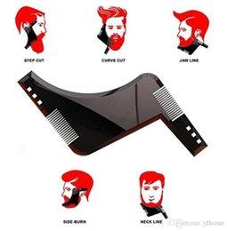 Ferramenta irmãos on-line-2018 New Beard Irmãos Shaping Ferramenta Styling Template Pente SHAPER Pente Para Modelo Ferramenta de Estilo Do Bigode