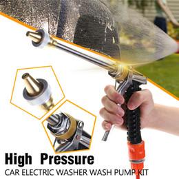 Canada 12v 100w 160psi voiture laveuse nettoyant tuyau d'eau pulvérisateur pompe de lavage avec brosse propre kit voiture laveuse outils supplier car washing hose Offre