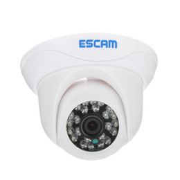 Fotocamera p2p indoor online-Escam Snail QD500 Onvif Indoor Mini dome Camera P2P HD Telecamera di sicurezza Privacy Masking e visione notturna Telecamera IP