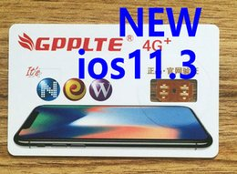 Wholesale Free T Mobile - Brand New GPPLTE 4G+ PRO3 ios 11.3 ios11.3 ICCID Unlocking Sim For sprint au softbank at&t t-mobile iPhone X 8 7 6 5 IOS11.3 with Free DHL