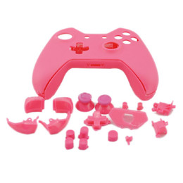 Wholesale Xbox Buttons - JESBERY Pink Full Housing Multi Color Shell Case Buttons Tools Kits For Xbox One Wireless Controller Protection Skin