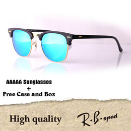 Wholesale Clear Glasses Case - Luxury Brand Cat Eye Sunglasses For Men Women Fashion Vintage UV400 Mirror glass lenses Retro Sun Glasses Eyewear with free box and cases